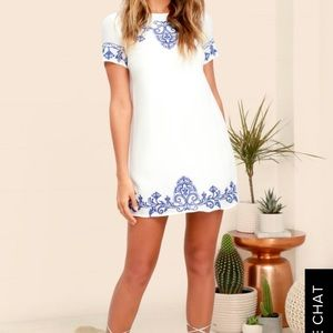 Lulus Tale to Tell Embroidered Shift Dress